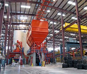 ACPA Factory Visit to Hanson Pipe & Precast Highlights Twin Mixer MobilMat