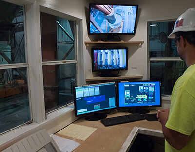 WCS Concrete Batch Control Room